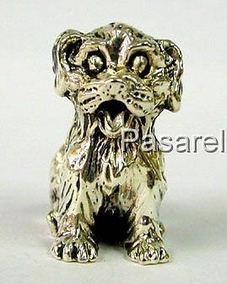 Silver Hairy Dog Miniature