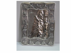 Silver Medium Map Of Holy Land
