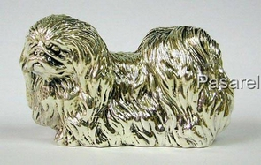 Silver Model of Pekinese Dog