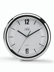 Silver-plated round clock - 2091