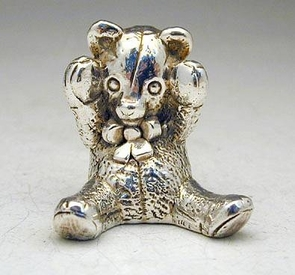 Silver Toying Teddy Bear Miniature