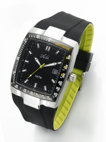 Sporty stainless steel men's watch - 2840