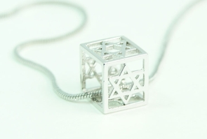 Star of David cube Necklace