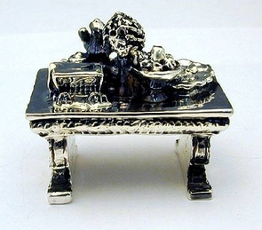 Sterling Silver Antique Table Miniature