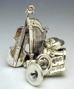 Sterling Silver Band Instruments Miniature