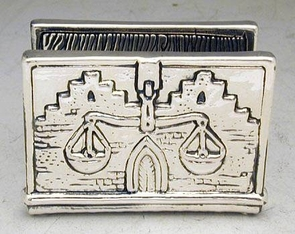 Sterling Silver Bank Business Card Holder