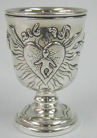 Sterling Silver Bar Mitzva Kiddush Cup