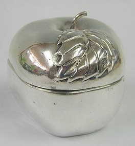 Sterling Silver Big Apple Honey Dish