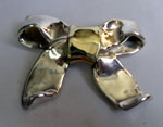 Sterling Silver Butterfly Bow Brooch