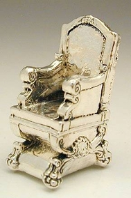 Sterling Silver Chair Flat Base