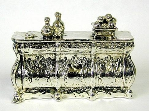 Sterling Silver Chest / Cabinet Miniature