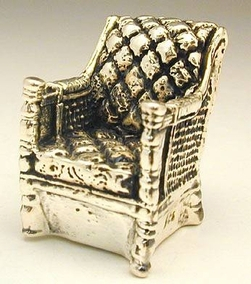 Sterling Silver Comfortable Chair