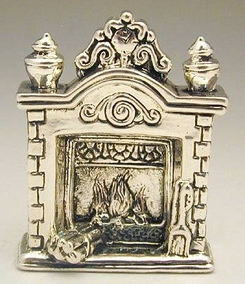 Sterling Silver  Fireplace