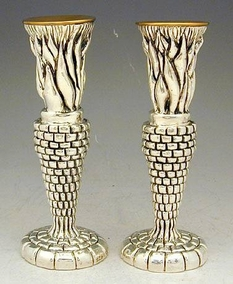 Sterling Silver Flame Candlesticks