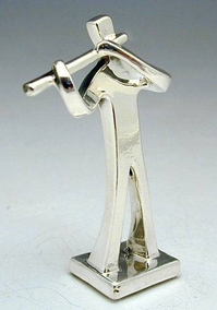 Sterling Silver  Flute Player Miniature