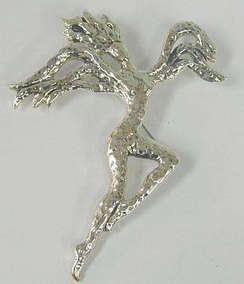 Sterling Silver Flying Women