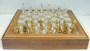Sterling Silver Golf Chess Set