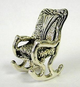 Sterling Silver Grandfather Chair / Rocking Chair