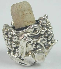 Sterling Silver Grape Stopper