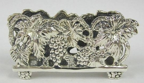 Sterling Silver Grapes Napkin Holder