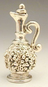 Sterling Silver handled decanter miniature