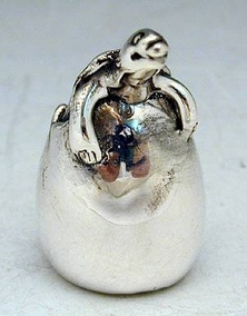 Sterling Silver Hatching Turtle Miniature