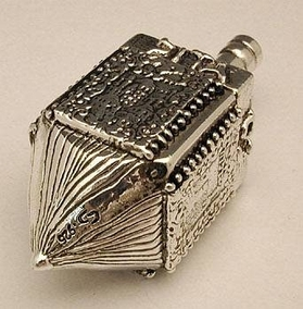 Sterling Silver Huge Jerusalem Dreidel