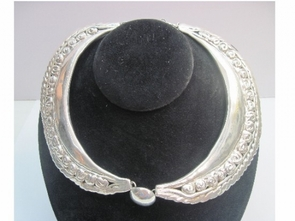 Sterling Silver Huge Necklace 2 Pices