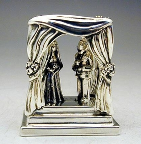 Sterling Silver Jewish Wedding Ceremony Miniature