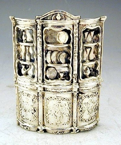 Sterling Silver Large Cabinet Miniature