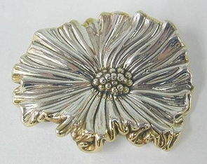 Sterling Silver Lines Brooch
