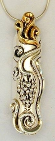Sterling Silver Mezuzah Pendant on Chain
