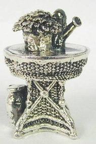 Sterling Silver miniature model of a garden table.