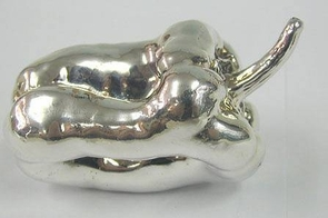 Sterling Silver Model of a Pepper
