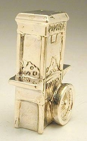Sterling Silver Popcorn Cart