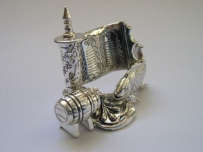 Sterling Silver Purim Fish+Jam