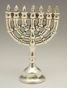 Sterling Silver Round Canes Menorah