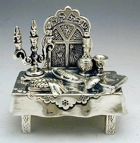Sterling Silver Sabbath Table Miniature