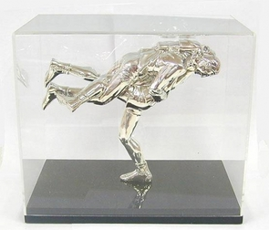 Sterling Silver Sambo Wrestling Sculpture