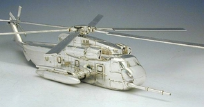 Sterling Silver Sikorsky CH 53 Helicopter Model