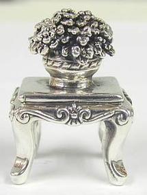 Sterling Silver Small table With Flowers