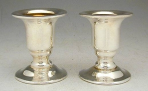 Sterling Silver Smooth Small Candlesticks