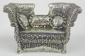 Sterling Silver Straw Couch