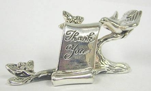 Sterling Silver Thank You