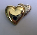 Sterling Silver Two Hearts Combined