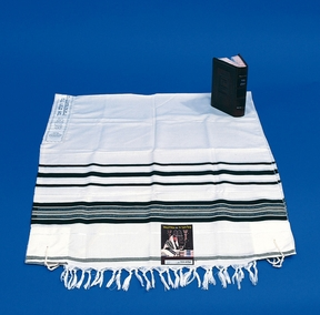 "Tallit - Kosher ""Hadar"" Talit with 8 wool Tzitzios, for adults 130X180cm"