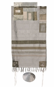 "Tallit with Stripes CAT# TRS- 3, 20"" X 73"""