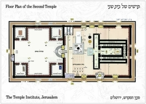 The Holy Temple Postcard - Floor Plan of the Second Temple