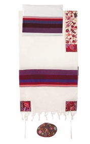 "The Matriarchs in Color Tallit CAT# THE- 5, 42"" X  75"""