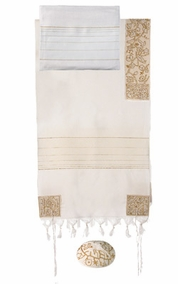 "The Matriarchs in Gold Tallit CAT# THE- 7, 20"" X 75"""